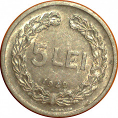 5 lei 1949 1 - Moneda Romania