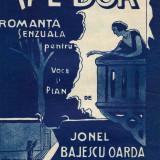 """Partitura interbelica """"Mi-e dor. Romanta senzuala...."""", Librariei Ticu I. Eșanu"""