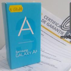 Samsung Galaxy A3 Black NOU Factura & Garantie 22 Luni - Telefon Samsung, Neblocat, Single SIM, 1 GB