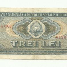 Romania - Bancnota 3 LEI 1966 - Seria A.0005 - VF+