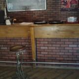 Bar interior stejar masiv, inox, PAL, chiuveta inox, baterie robineti, 310 cm