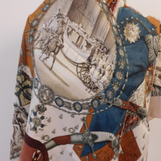 HERMES -NAPOLEON -ESARFA VINTAGE SUPERBA MATASE NATURALA, ORIGINALA - Batic Dama Hermes, Culoare: Din imagine