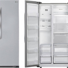 LG Frigider GSB325PVQV, A+, 527 l, 175 cm, inox, dozator de apa - Congelator