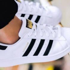 Adidas Superstar ii Super 2 Star Clasic Piele Barbati 42 Noi in Cutie - Adidasi barbati, Culoare: Alb