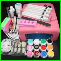 KIT SET Unghii false BeautyUkCosmetics GELURI COLOR LAMPA UV