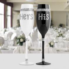 Pahare de Șampanie His & Hers