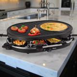 Grill-Racletă cu Aparat pentru Crepe Tristar RA2996 - Gratar electric