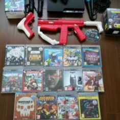Vând/Schimb Consola PS3/PS4 320GB FULL (Motion+Karaoke+15 jocuri) - PlayStation 3 Sony