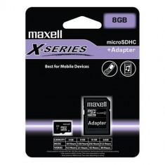 Card memorie microSDHC Maxell 8GB clasa 4 cu adaptor - Secure digital (SD) card