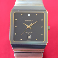 RADO Anatom cu diamant otel si aur - Original - perfect - super ergonomic - Ceas barbatesc Rado, Lux - elegant, Quartz, Inox, Analog