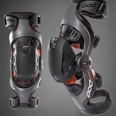Protectii moto - MXE Orteze genunchi copii POD K1, gri/portocaliu