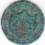 Carol I. 5 bani 1884 patina verde - Moneda Romania