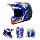MXE Casca motocross carbon Fox V4 Intake culoare albastru/alb Cod Produs: 07115025LAU