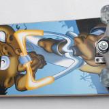 Skateboard inSPORTline Spartan Tramp - cu placa biconcava din artar chinezesc, Copii