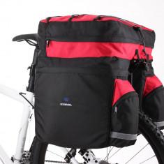 Geanta dubla cu husa impermeabila pentru portbagaj spate bicicleta