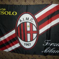 Steag Echipa de Fotbal A.C.Milan, matase, dim.= 142 x 95 cm - Steag fotbal, De club