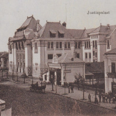 BUZAU, PALATUL DE JUSTITIE, BERARIE BERE LUTHER, CIRC. 1917 POSTA GERMANA - Carte Postala Muntenia 1904-1918, Circulata, Printata