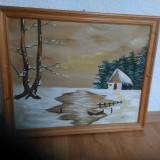 Tablou semnat Domokos - Pictor strain, Peisaje, Acuarela, Art Nouveau