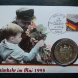 1995 Germania - FDC si medalie ( Heimkehrim Mai 1945 )., Europa