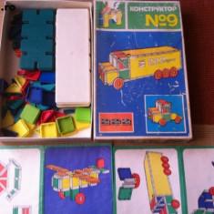 Joc CONSTRUCTOR nr 9 made in bulgaria anii 80 konstruktor bulgaresc hobby - Jocuri Seturi constructie, 4-6 ani, Unisex