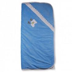 Lenjerie pat copii - Plapuma catifea Pifou B01 Albastru