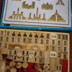 Joc de construit constructie castel castle blocks din lemn pentru copii hobby - Jocuri Seturi constructie, 6-8 ani, Unisex