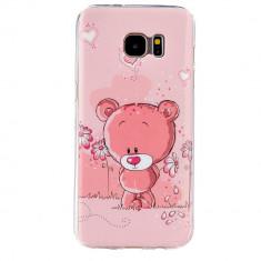 Husa Telefon Samsung, Samsung Galaxy S7, Husa - Husa SAMSUNG GALAXY S7 silicon subtire roz cu elefantel