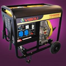 Generator Curent Electric Diesel Trifazic 6.5 KVA Visoli TDG-6000E-3 Portabil