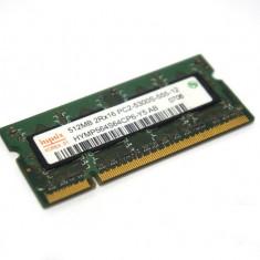 Memorie Laptop 512MB Kingston PC2 4200 DDR2 SODIMM KVR533D2S4/512