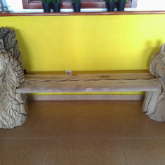Banci de gradina - Banca din lemn sculptata manual