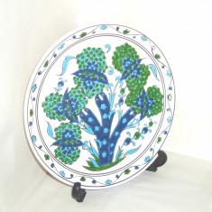 Farfurie ceramica emailata cloisonne, hand made - Maslin - Dakas Keramik Grecia - Portelan, Farfurii