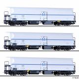 Macheta Feroviara - Set 3 vagoane refrigerante FKM 4, BDZ, Ep.III, Tillig 70013, H0