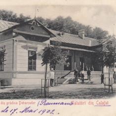 SALUTARI DIN CALAFAT,, PAVILIONU DIN GRADINA DEBARCADER, CIRCULATA MAI ''902 - Carte Postala Oltenia pana la 1904, Printata