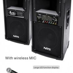 NOU 2016! MEGA SET 2 BOXE ACTIVE, MIXER, MP3 USB, EFECTE KARAOKE, MICROFON WIRELESS.