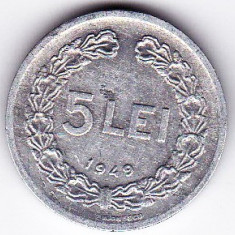 RPR 5 lei 1949 VF+ - Moneda Romania