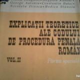 Carte Drept penal - DONGOROZ Explicatii teoretice ale Codului de Procedura Penala Roman vol. 1+ 2