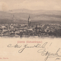 BISTRITA, VEDERE GENERALA, CLASICA, CIRCULATA DEC. 1900 - Carte Postala Transilvania pana la 1904, Printata