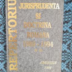 JURISPRUDENTA SI DOCTRINA ROMANA 1989 - 1994. REPERTORIU (vol. II, 1995 - NOUA!) - Carte Jurisprudenta