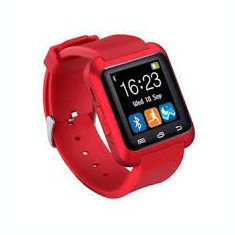 SMART WATCH Ceas inteligent Bluetooth U80 iPhone Samsung Android Rosu
