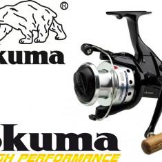 Mulineta Okuma Longbow Baitfeeder 640 Manivela Lemn Excelenta 6 Rulmenti 0.LG640