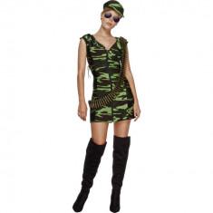 Costum Halloween - Costum camuflaj Army Girl S - Carnaval24