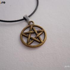 Pandantiv Medalion Pentagrama + lant inox sau silicon - Pandantiv fashion
