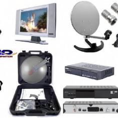 TV SATELIT CAMPING pliabila-TIR-RULOTA-kit cu televizor sh 12 v