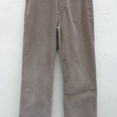 Pantaloni din catifea bej Prada originali - Pantaloni barbati Prada, Marime: M/L