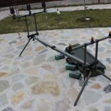 Rod Pod Full Echipat Pentru 3 lansete 3 Avertizori Gen Jrc 3 Swingeri