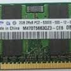 MEMORII DE LAPTOP SODIMM 2 GB DDR2, OFERTA LIMITATA, GARANTIE 6 LUNI - Memorie RAM laptop Samsung, 667 mhz, Dual channel