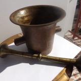 Mojar vechi din bronz masiv.Piesa de colectie din sec XIX.