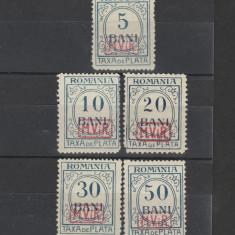 Romania 1918 Ocupatia Germana 5, 10, 20, 30, 50b supratipar MViR [1] MH - Timbre Romania, Nestampilat