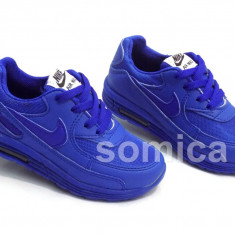 Adidasi copii Nike, Unisex, Textil - ADIDASI TIP NIKE AIR MAX COPII ALBASTRU, PANZA, MASURI NR.26-30, CU LEDURI