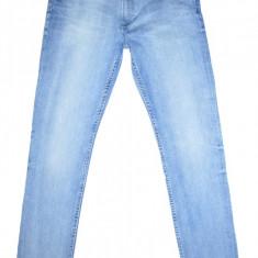 Blugi Conici H&M - (MARIME: EUR 170 / corespunde marimea 29) - Talie = 80 CM - Blugi barbati H&m, Culoare: Albastru, Lungi, Prespalat, Skinny, Normal